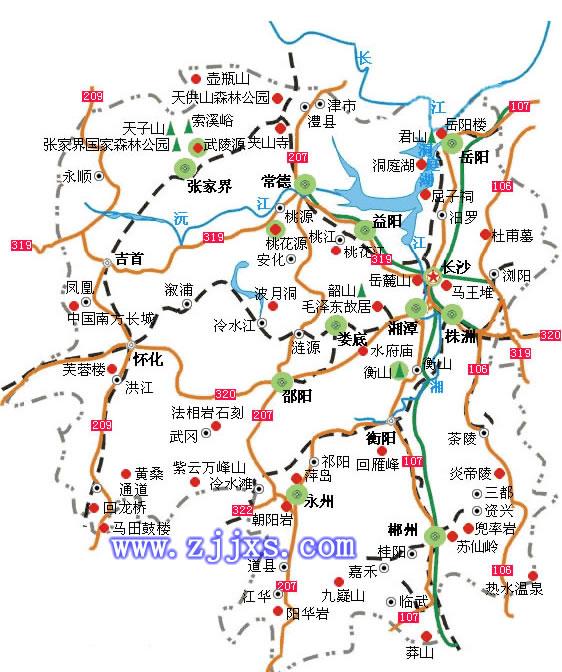 湖南省旅游交通地图(一)